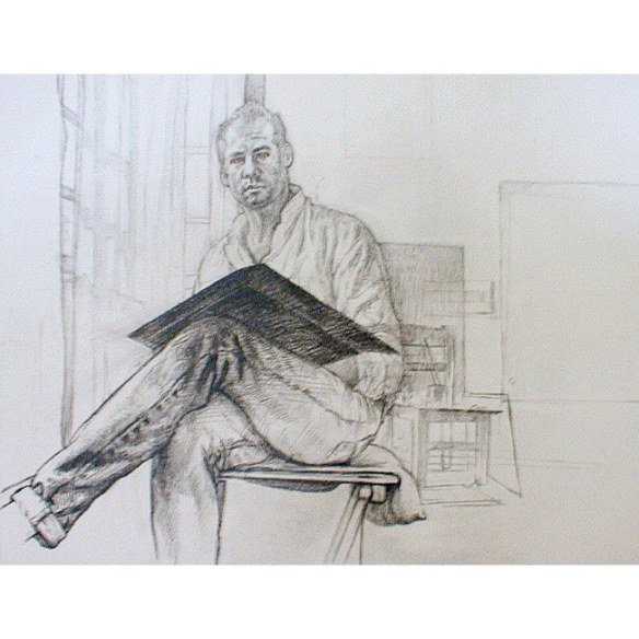 Michael Newberry Graphite Self-Portrait