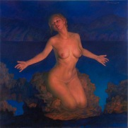 contemporary oil painting of Venus, the most desirable woman in the universe.