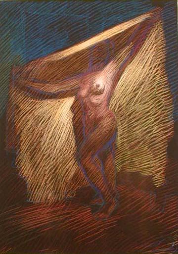 Pastel on Dark Paper