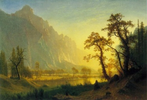 Bierstadt, Sunrise, Yosemite Valley, c. 1868