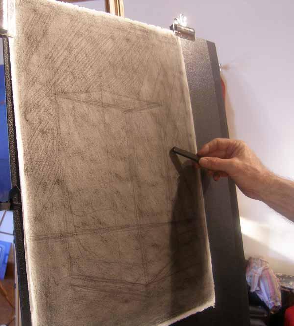 charcoal drawing demo