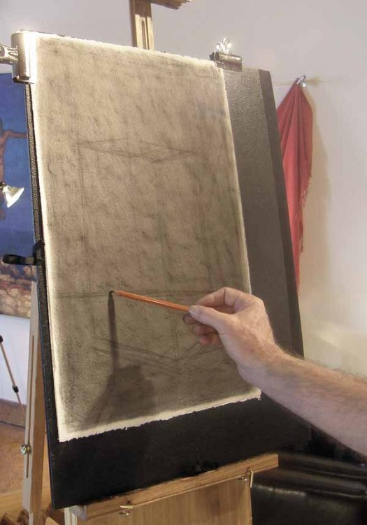 charcoal drawing demo