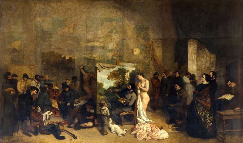 Courbet, The Painter's Studio, 1855, oil on canvas, 12 x 20 feet