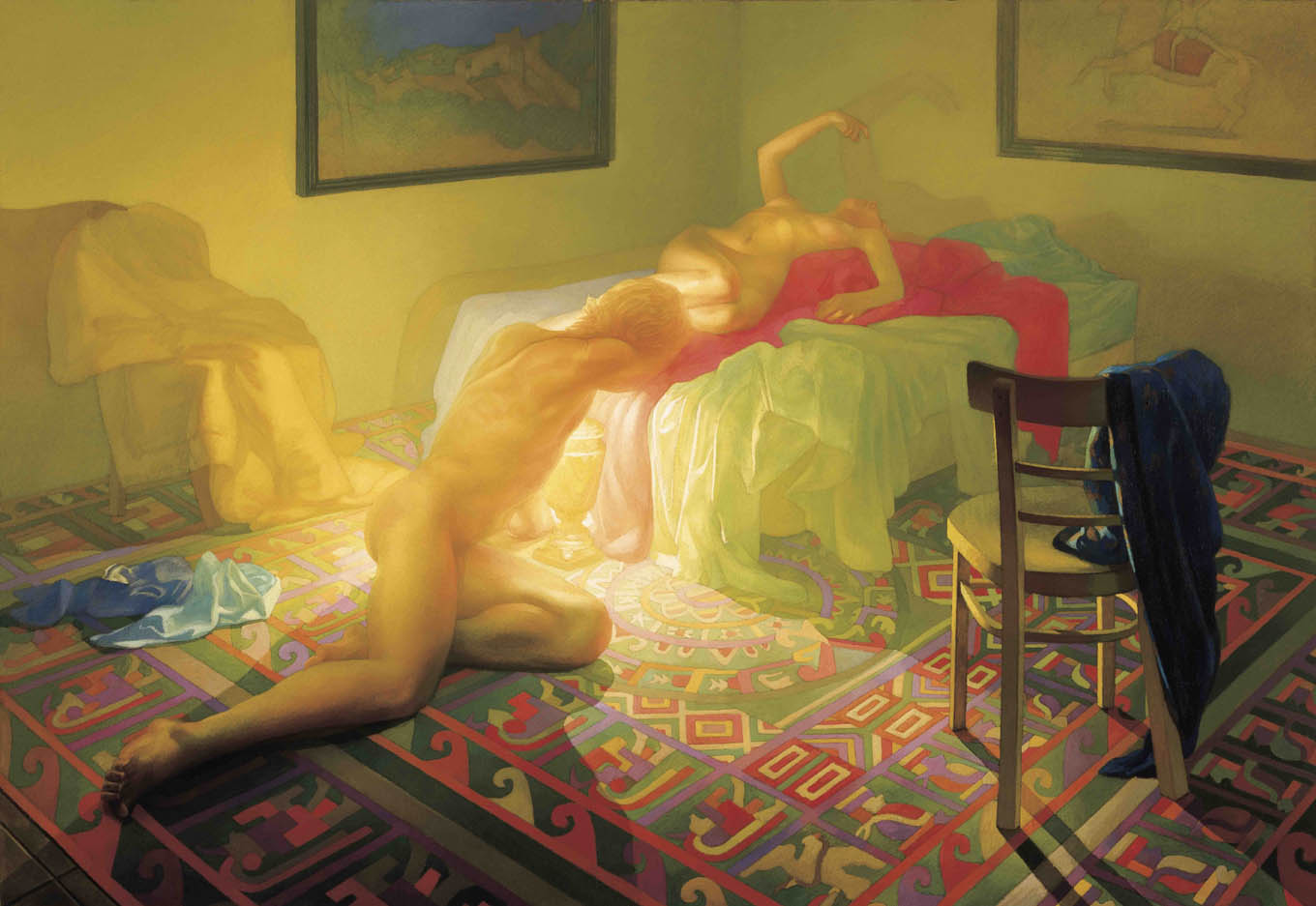 Newberry, Denouement, 1987, oil on linen, 54x78 inches.