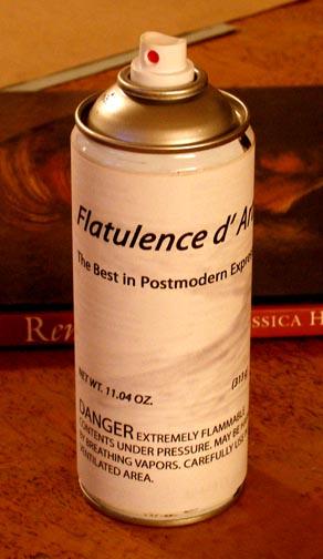"""Newberry, 2007, Flatulence d' Artista, canned flatulence, 8x2 1/2x2 1/2"""""""