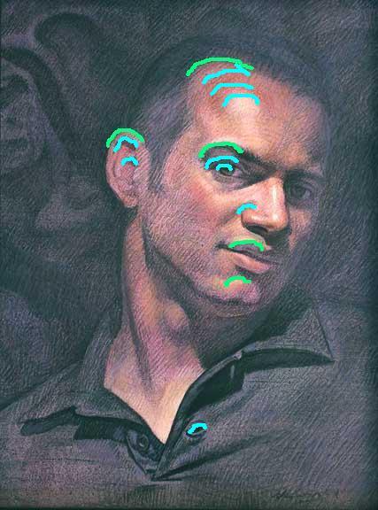 Joseph Castro, acrylic on canvas panel, 16 x 12 inches