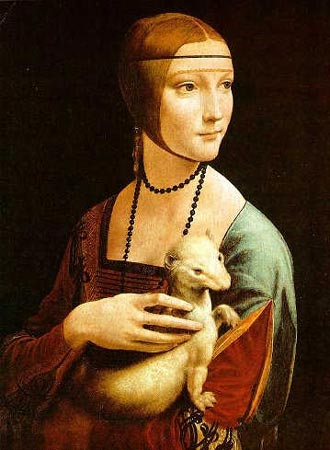 Lady with an Ermine, da Vinci, 1482-5