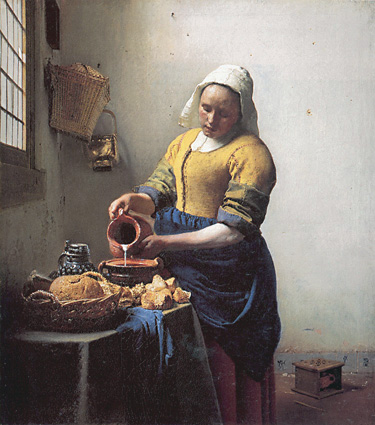 The Milkmaid, Vermeer, 1658-61