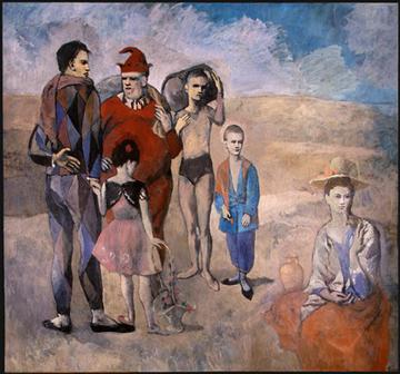 Picasso, La famille de saltimbanques, 1905