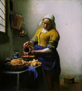 Vermeer, The Milkmaid, 1658-60