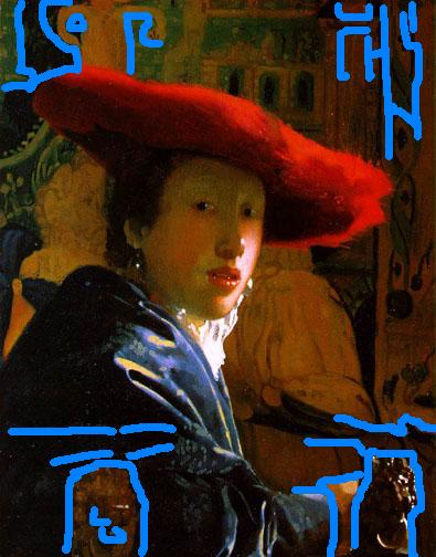Vermeer Woman with a Red Hat