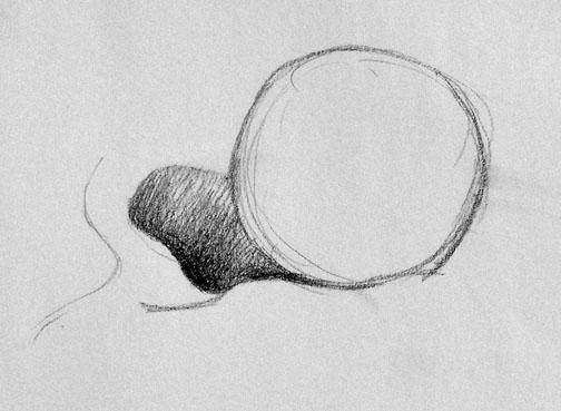 cast shadow ball curve