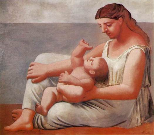 Picasso woman_and_child