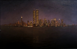 Newberry, Manhattan at Night, oil on linen
