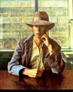 Woman Wearing a Hat, 1981, oil on linen