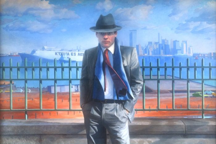 Newberry, Man from Manhattan (self-portrait), oil on linen