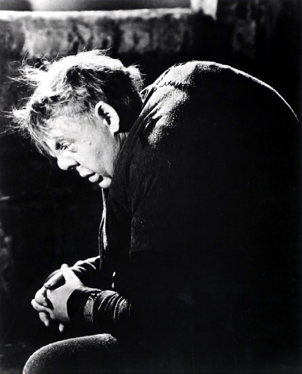 Charles Laughton as the hunchback of Notre Dame