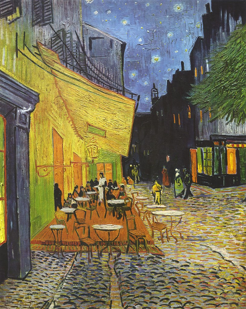 Van Gogh, Terrasse des Cafés an der Place du Forum in Arles am Abend