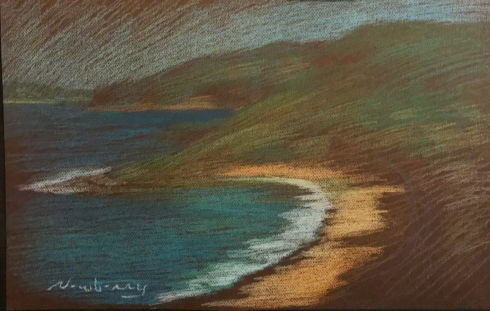 Pearl Beach NSW pastel by Michael Newberry