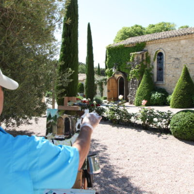 Painting with Mathieu Brousses Provence Art Experience