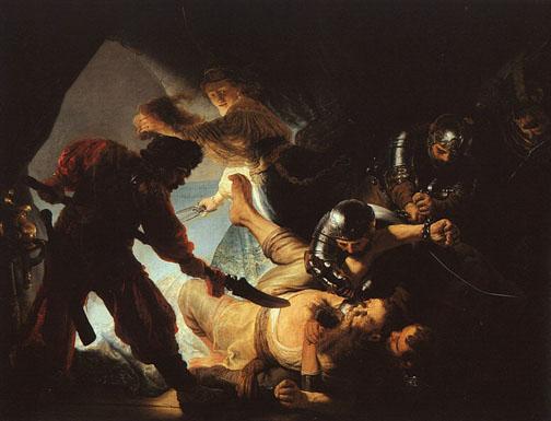 Rembrandt, The Blinding of Samson