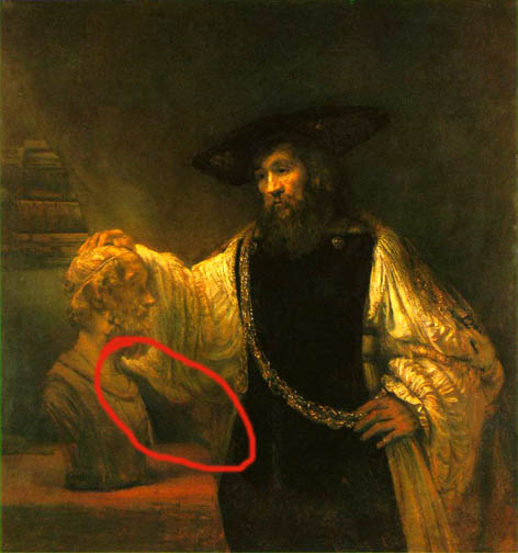 Rembrandt, Socrates Contemplating the Bust of Homer