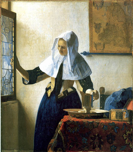 Vermeer, Woman holding a Pitcher