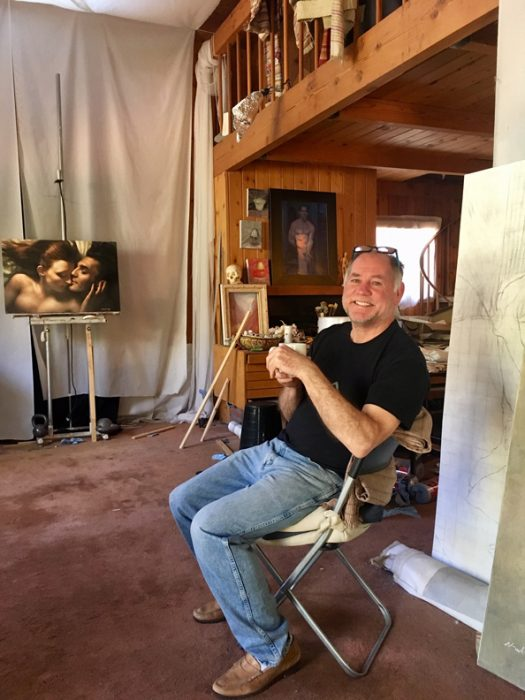 Michael Newberry in his Idyllwild studio.