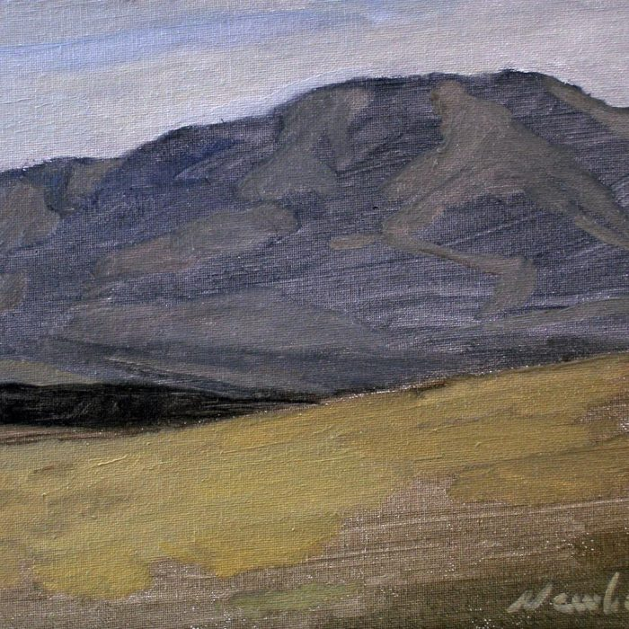 Newberry, Arizona Series #1, oil on panel, 9x12""