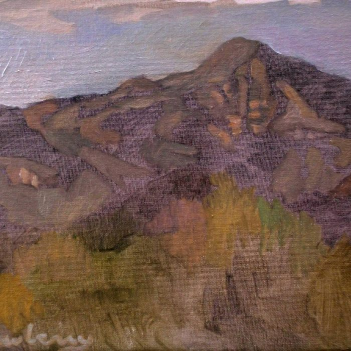 Newberry, Arizona Series #2, oil on panel, 9x12""
