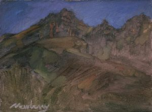 "Newberry, Arizona Series #6, oil on panel, 9x12"""