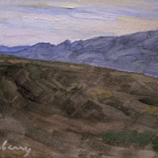 Newberry, Arizona Series #7, oil on panel, 9x12""
