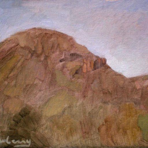 "Newberry, Arizona Series #8, oil on panel, 9x12"""