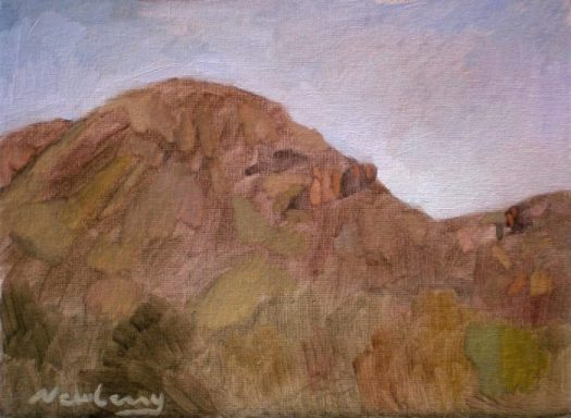 Newberry, Arizona Series #8, oil on panel, 9x12""