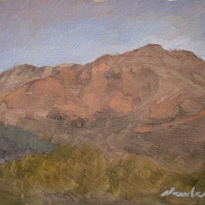 "Newberry, Arizona Series #9, oil on panel, 9x12"""