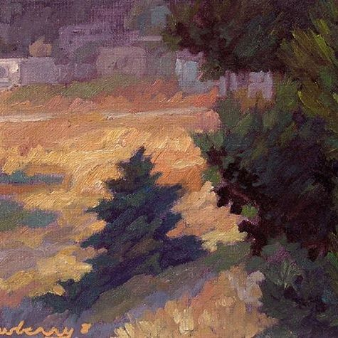 "Newberry, Baby Pine, 2008, oil on panel, 9x12"""