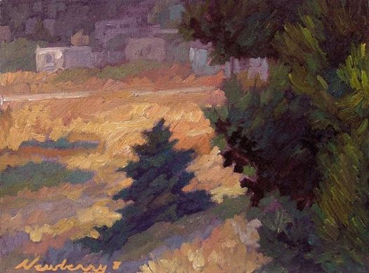 Newberry, Baby Pine, 2008, oil on panel, 9x12""