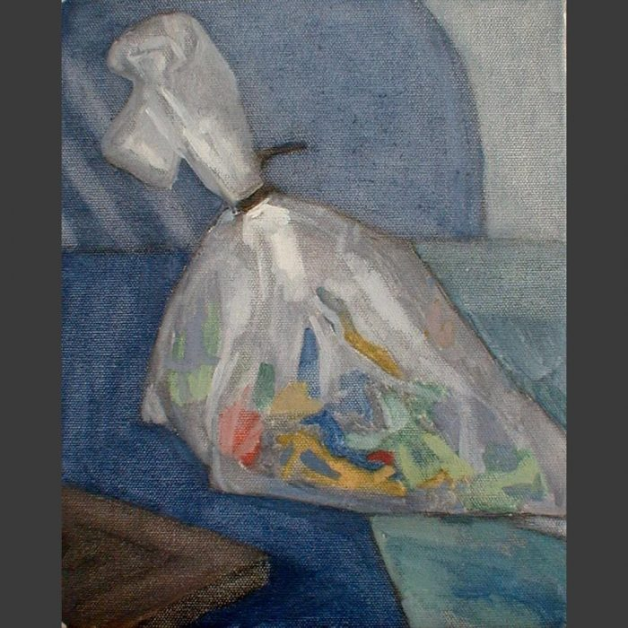Newberry, Toy Soldiers Bagged 2, 2004, oil on panel, 12x9""