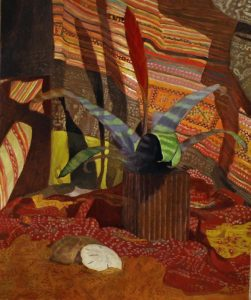 Newberry, Bromeliad, 2009, oil on panel, 24x18""