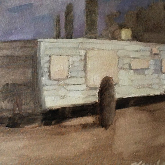 Newberry, Arizona Camper, 2017, oil on panel, 9x12""