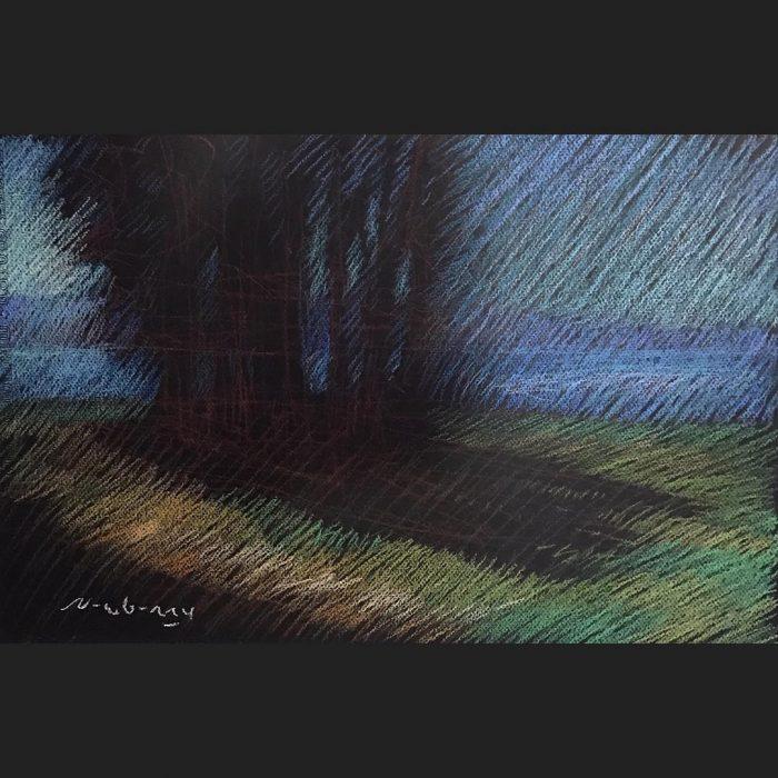 newberry-central-coast-bay-pastel-on-dark-paper-sc
