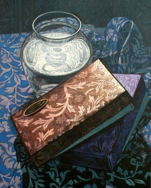 Newberry, Chocolate Boxes, 2004, oil on panel, 16x12""