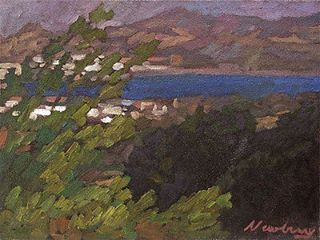 Newberry, Faliraki, 2008, oil on panel, 9x12""