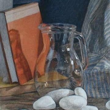 Newberry, Glass Jar, 1999, acrylic on panel, 12x9""