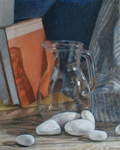 "Newberry, Glass Jar, 1999, acrylic on panel, 12x9"""