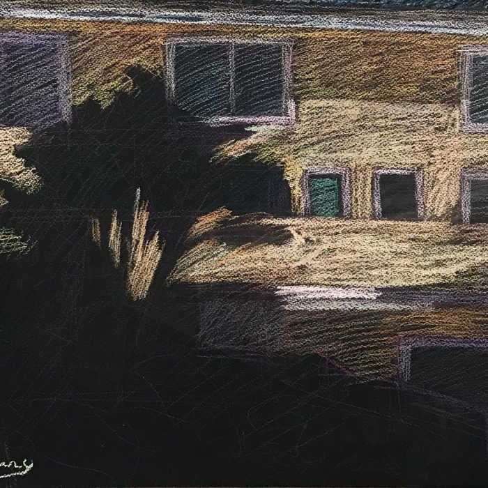 newberry-gold-apartments-in-santa-monica-pastel-on-dark-paper-pc