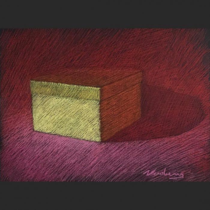 newberry-gold-box-red-shadows-pastel-on-dark-paper-sc