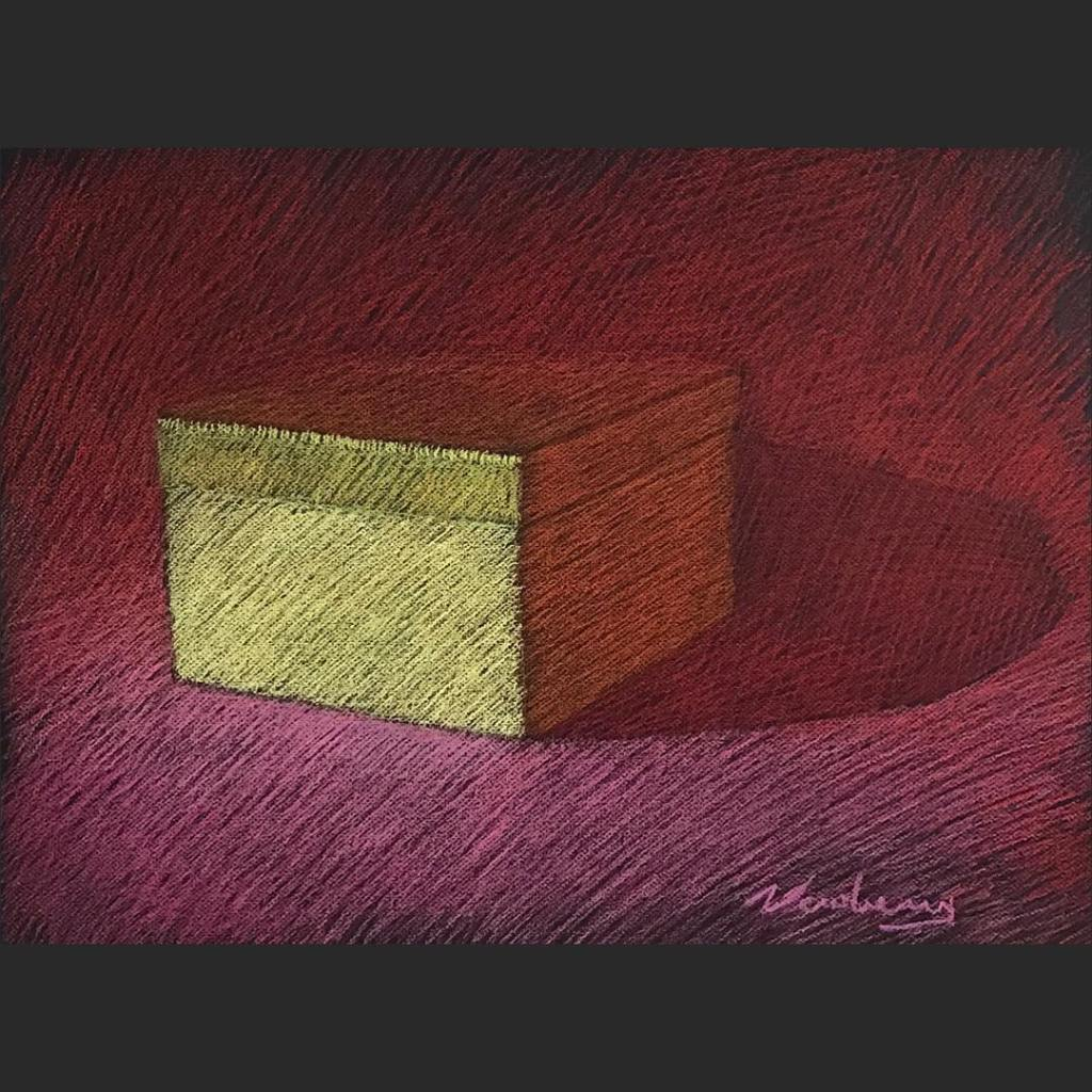 newberry-gold-box-red-shadows-pastel-on-dark-paper-sc