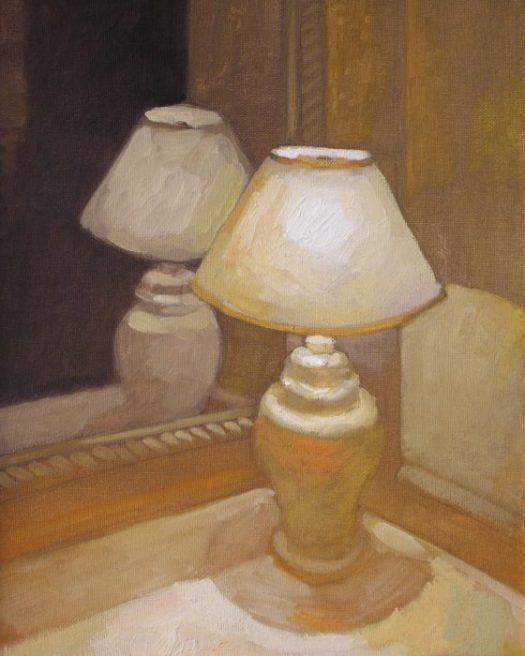 Newberry, Gold Lamp, 2006, oil on panel, 12x9""