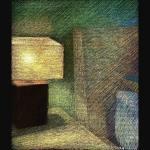 newberry-lamp-study-sydney-pastel-on-dark-paper-sc